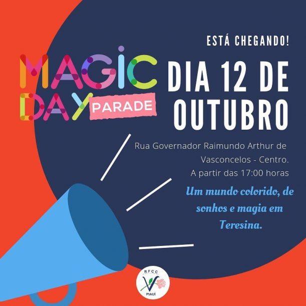Arte do evento Magic Day
