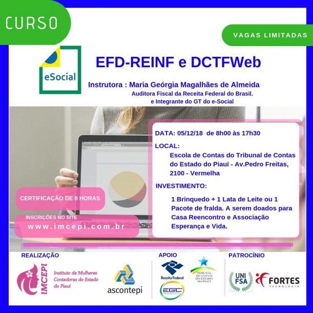 Arte do curso Curso EFD REINF e DCTFWeb