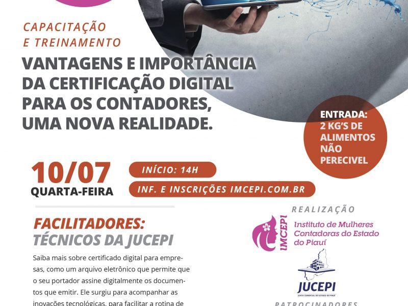 Capacitação e Treinamentos: vantagens e importância da certificação digital para os contadores, uma nova realidade.